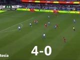 Cuarto, quinto y sexto gol de Estados Unidos ante Honduras en San José, California