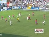 Anthony Lozano marca el primer gol de Honduras ante Costa Rica