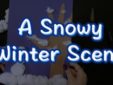 Ring in Winter by recreating this simple snowy scene! A great project for kids.
