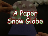 Celebrate the holidays with this Winter Wonderland Snow Globe! You will need: construction paper (green, blue, etc.), something to write with (crayons, pens, etc.), scissors, cotton balls, and a glue stick.