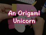 Spread some magic with this origami unicorn! You will need: 2 pieces of origami paper, a black marker, scissors, googly eyes, and a glue stick.