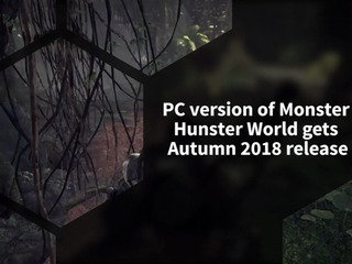 The PC version of Monster Hunter World won't be releasing until Autumn 2018