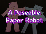 Party with this poseable robot! You will need: construction paper, scissors, markers or crayons, and 6 brads