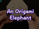 Learn how to make an Origami Elephant! You will need: origami paper, black markers, googly eyes.
