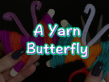 Get ready for spring with these Yarn Butterflies. You will need: yarn, 2 popsicle sticks and a pipe cleaner.
