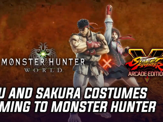 Monster Hunter World getting Street Fighter V costumes