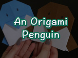 Learn how to make an adorable Origami Penguin. You will need:  square piece of paper and marker