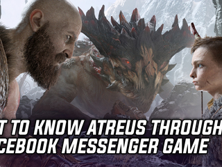 Learn more about Kratos' son Atreus through text-based Facebook Messenger game