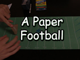 Just in time for the Super Bowl, follow the instructions in this video to learn how to make a football and football field out of construction paper. You will need: 2 pieces of green construction paper, one piece of brown construction paper, tape and crayons