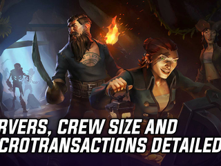 Servers, crew size and Microtransactions detailes for Sea of Thieves