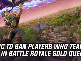Epic to ban players who team up when solo queuing for Battle Royale