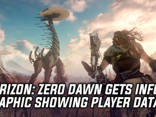 Guerrilla Games shares infographic on player date for one year anniversary of Horizon: Zero Dawn