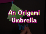 Learn to make an origami umbrella! You will need: origami paper and a pipe cleaner.