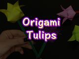 Celebrate the arrival of Spring with Origami Tulips! You will need: origami paper and pipe cleaners.
