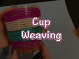 Create a new colorful cup that's great for holder things like pens and pencils!  You will need: a plastic cup, yarn, and scissors.