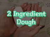 Make this super soft moldable dough with just two ingredients! Add color for more fun. You will need: foam shaving cream and cornstarch.
