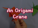Challenge yourself with this origami crane! You will need: origami paper.