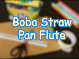 Learn to make your own Boba Straw Pan Flute! You will need: Boba straws, markers/crayons, cardboard, and double sided tape.