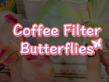 These butterflies will be unique every time! Get creative with colors. You will need: markers, scissors, coffee filters, clothespin, and a cup of water.