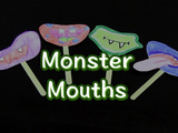 Create a silly, fun monster mouth using your imagination! You will need: paper, crayons/colored pencils, tape, scissors, wooden craft sticks, and your imagination.