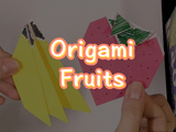 Make these super fresh origami bananas and strawberry, a perfect summer treat! You will need: origami paper and markers.