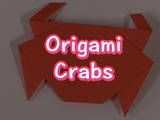 Make these easy fun little crabs! You will need: origami paper.