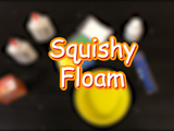 Here's how to make your very own squishy floam! You will need: baking soda, eye contact solution, foam balls, and two 4oz Elmer's Glue.