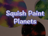 Create your own colorful planet without getting your hands dirty! You will need: plastic warp, paint, paper, and scissors.