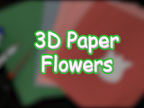 Learn how to make beautiful 3D Paper Flowers. You will need: color construction paper, glue stick, scissors, and a pencil.