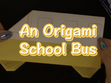 Get back into the groove of school with this easy origami school bus! You will need: origami paper and colored pencils or markers.