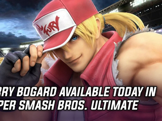 Terry Bogard from Fatal Fury joins the Super Smash roster today, and more Gaming news
