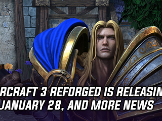 Warcraft 3 Reforged will be releasing on January 28th, and more Gaming news