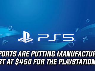 The current manufacturing cost of a PS5 is around $450, and more Gaming news