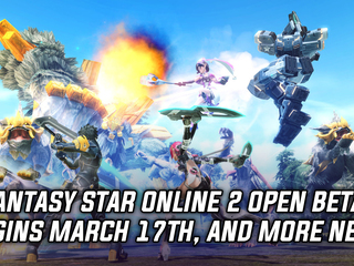 Phantasy Star Online 2 open beta will be starting on March 17th, and more Gaming news