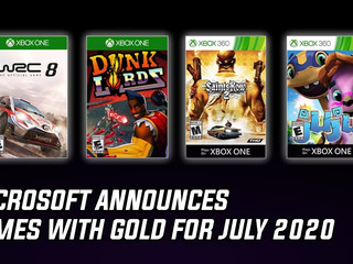 Microsoft reveals Games with Gold for July 2020