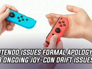 Nintendo issues formal apology for rampant joy-con drift issues