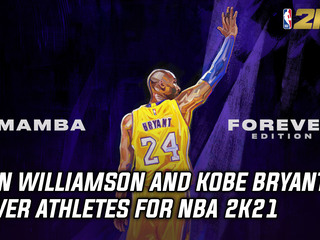 Kobe Bryant & Zion Williamson cover athletes for NBA 2K21