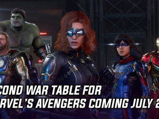 Second War Table for Marvel's Avengers coming July 29th