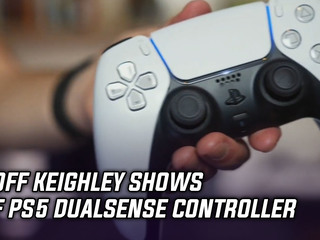 Geoff Keighley shows off the PS5 DualSense controller
