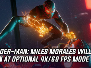 Spider-Man: Miles Morales getting optional 4K/60FPS mode