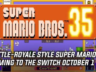 Super Mario Bros. 35 blends battle royale and platformer