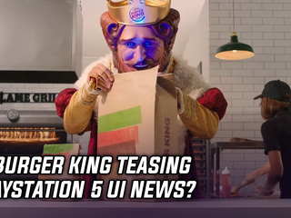 Burger King teasing a PlayStation 5 announcement on 10/15