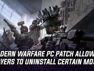 Modern Warfare patch allows players to uninstall certain modes