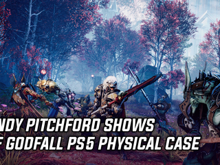 Randy Pitchford shows off Godfall PS5 case