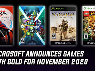 Microsoft announced Games with Gold for November 2020
