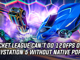 Rocket League 120fps option only available on the Series X