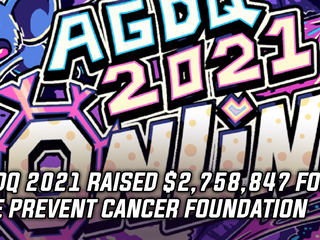 AGDQ 2021 raised $2,758,847 for the Prevent Cancer Foundation
