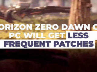 Horizon Zero Dawn on PC to get less frequent updates
