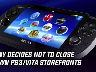 Sony decides not to close down PS3/Vita storefronts