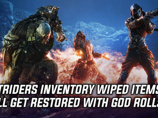 Outriders inventory wiped items will get restored with God Rolls